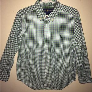 Worn once! Boys Polo button-down shirt.